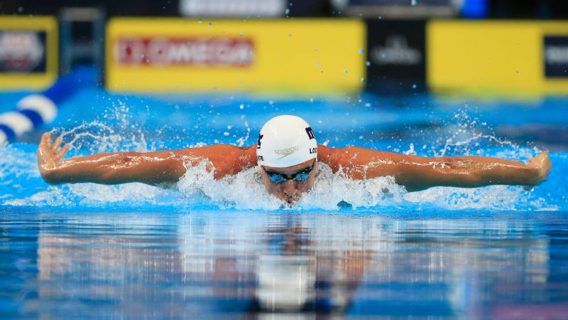 Ryan Lochte finished first overall in the men's 200-meter individual medley preliminaries at the U.S. Olympic swimming trials Thursday.