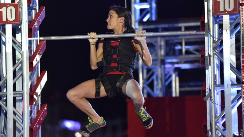 Kacy Catanzaro scales the Salmon Ladder in American Ninja Warrior Season 7.