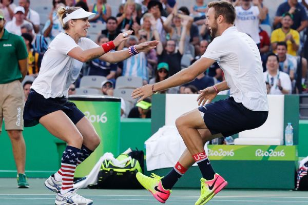 Bethanie Mattek-Sands and Jack Sock beat Venus Williams and Rajeev Ram to deny Williams a fifth career gold medal. With the silver, Williams still tied the Olympic mark for most women's tennis medals.