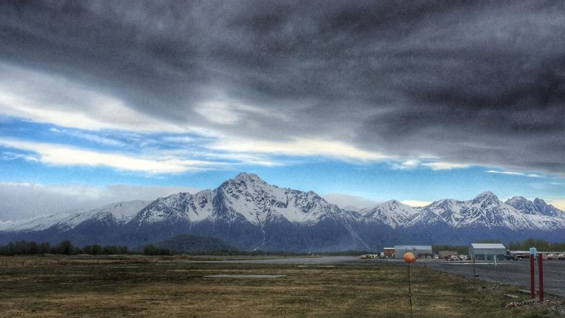 A view from the helipad near Erica's work area in Alaska.