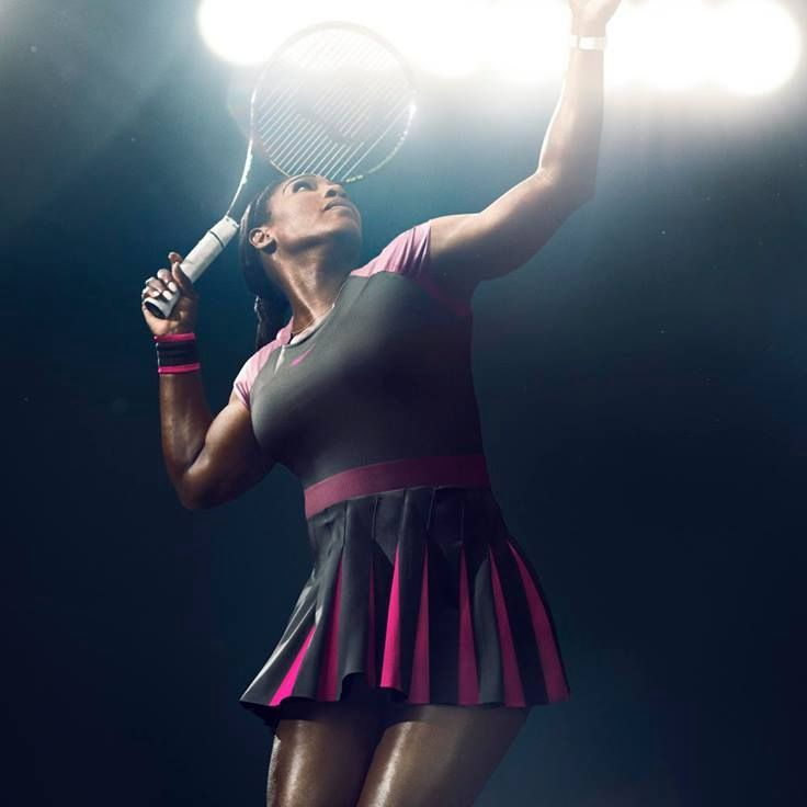 The pleats in Serena's skirt were designed to allow for range of movement.