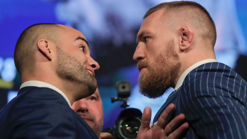 Conor McGregor and Eddie Alvarez traded barbs during a press conference to announce the card for the UFC 205 pay-per-view set for Madison Square Garden in November.