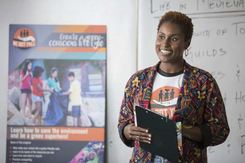 Issa Rae in character for her HBO show 'Insecure'.