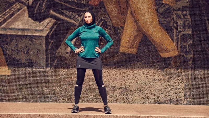 Running in a bra doesn't necessarily make you cooler, Rahaf Khatib said. Ninety degrees is 90 degrees for everybody.