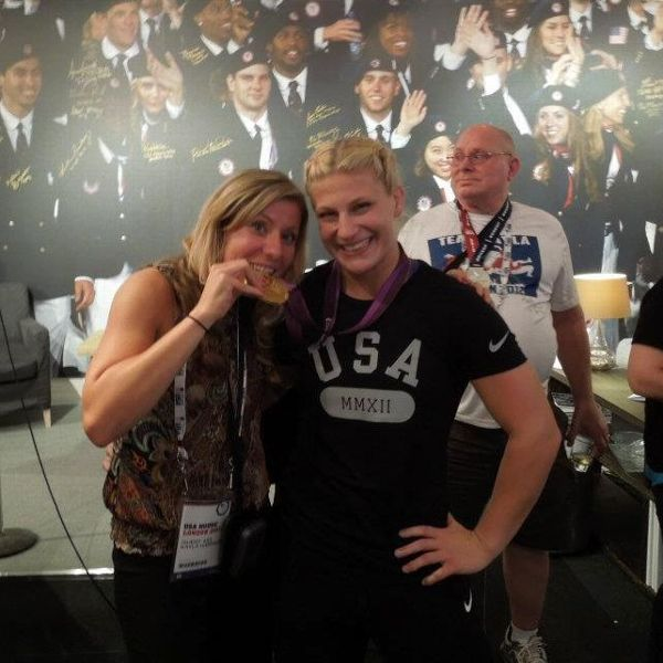 Before becoming a Chicago Bear, Jennifer Gibson was helping Kayla Harrison win a gold medal in judo in the 2012 London Olympics.