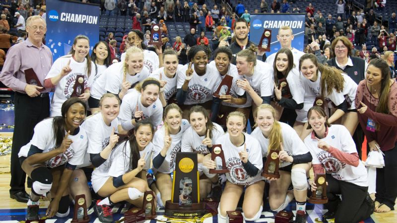 Stanford volleyball and coach John Dunning