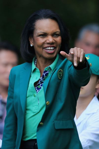 Condoleezza Rice was admitted to Augusta National Golf Club in 2012.