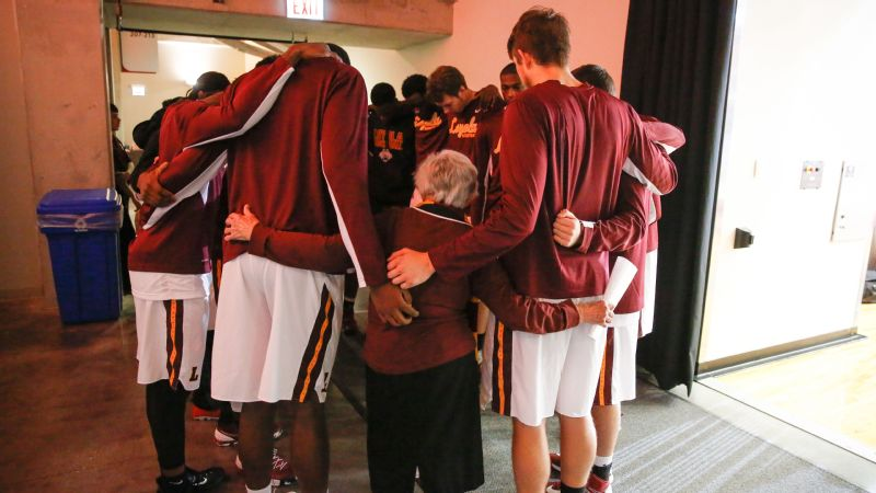 Sister Jean Dolores Schmidt, 97, has been the chaplain for the men's basketball team at Loyola University since 1994.