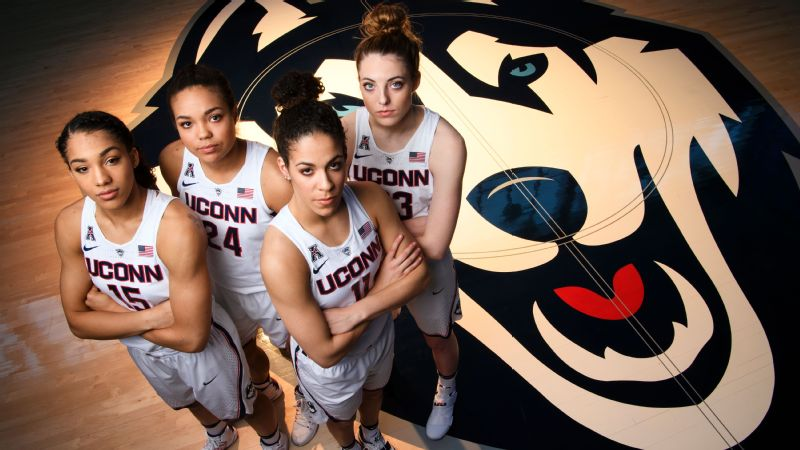UConn is led by (from left) Gabby Williams, Napheesa Collier, Kia Nurse and Katie Lou Samuelson.