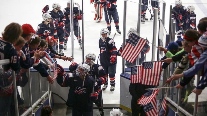 USA women's hockey team