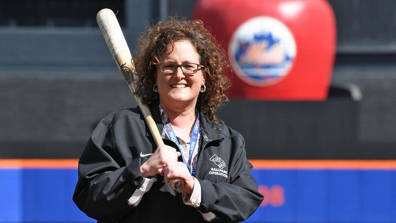 Sue Lucchi works with a group of 225 people to do everything from landscaping to making sure peanut shells are picked up, all to make Citi Field look like a professional ballpark day in and day out.