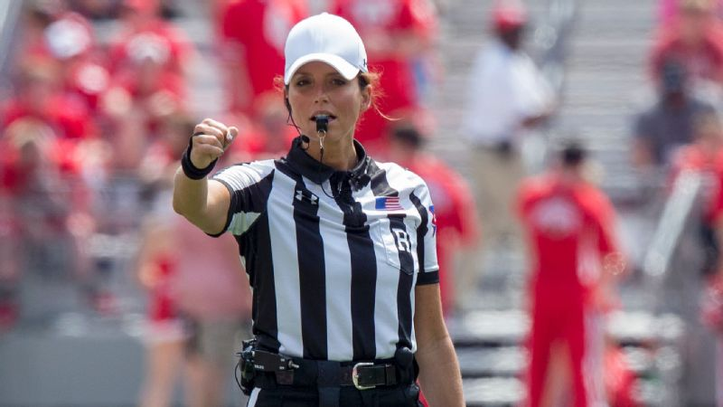 Amanda Sauer is hoping to make history by becoming the Big Ten's first female referee, but her path to the white hat has been an unforgettable journey full of ups and downs.