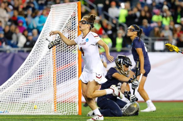 Kenzie Kent scored five goals as Boston College came back in the second half to beat Navy in the semifinals.