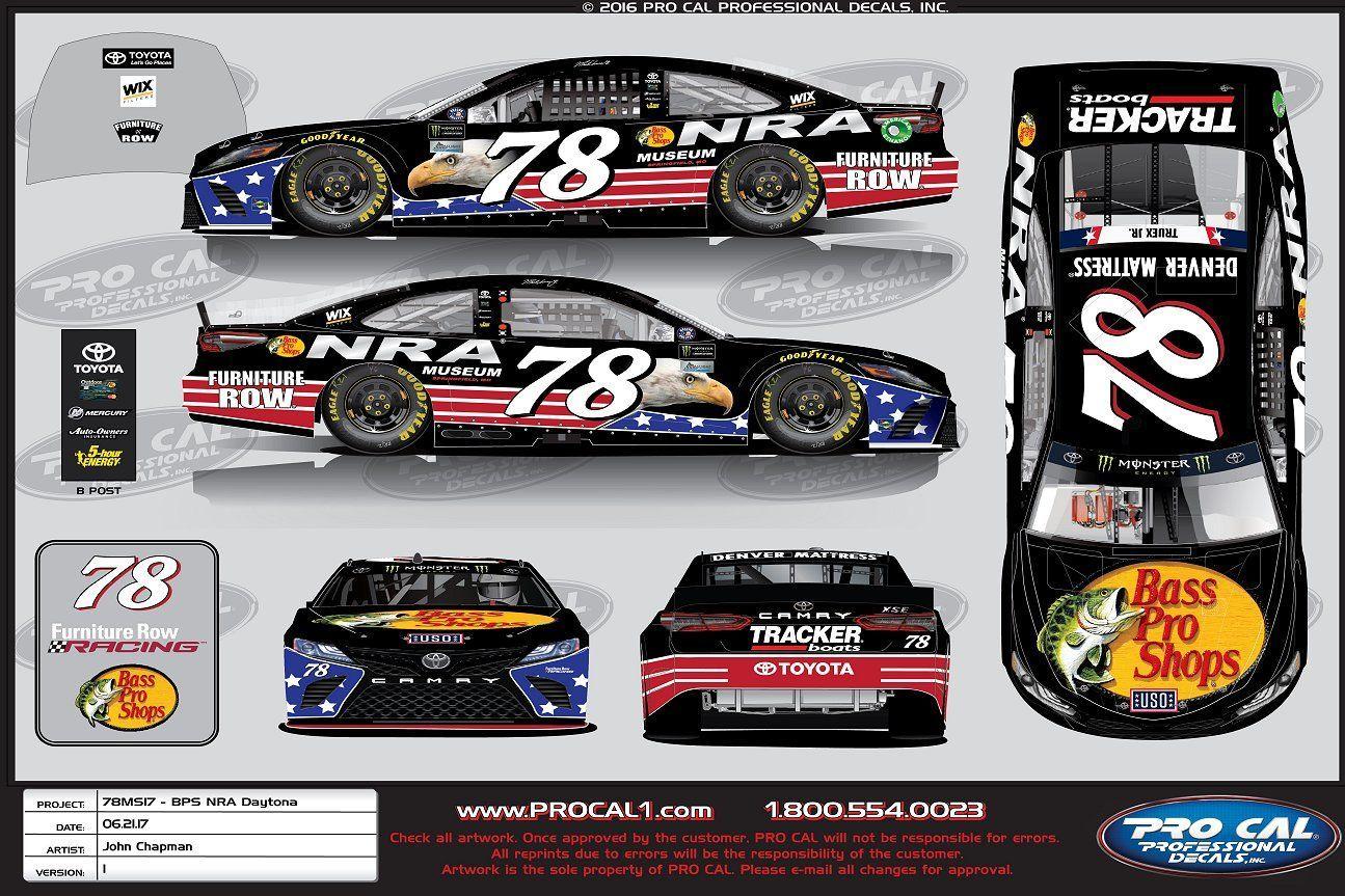 Birthday Fishing New Paint Scheme Racing For Truex Jr At Daytona
