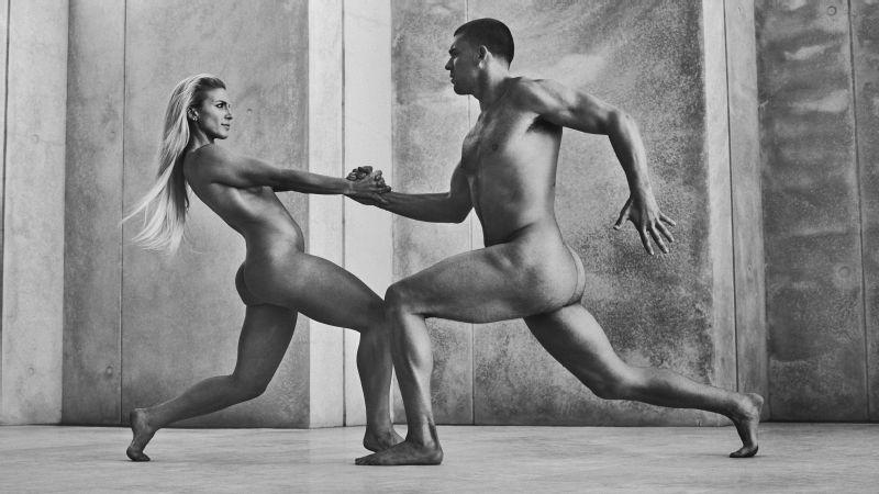Zach Ertz and Julie Johnston, ESPN The Magazine Body Issue
