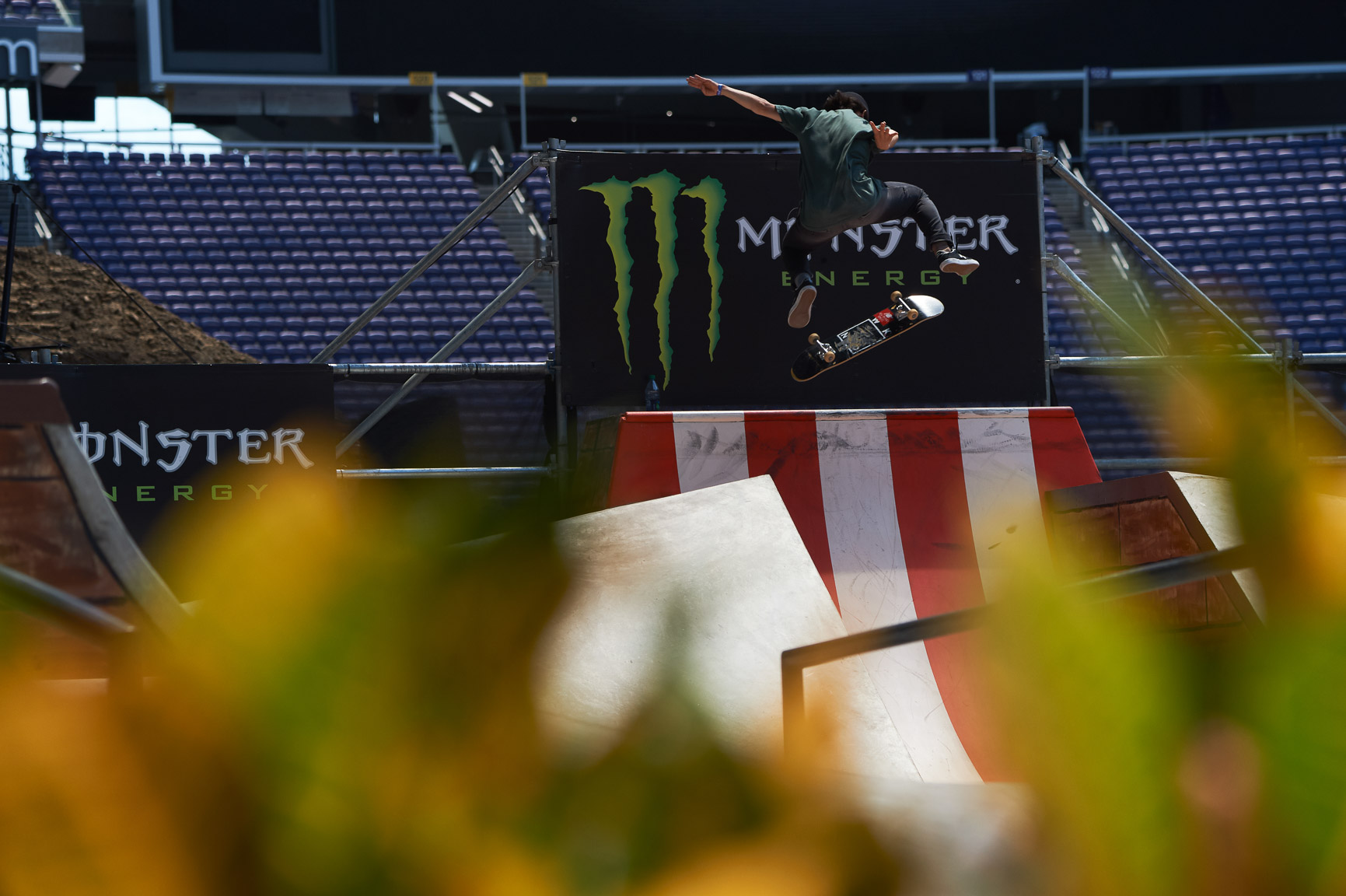 Women's Skateboard Street competitor Alexis Sablone arrived early at X Games Minneapolis 2017 to practice and figure out her lines. Kickflipping gaps came naturally to the seasoned competitor, who holds five X Games Skateboard Street medals, three of them gold.