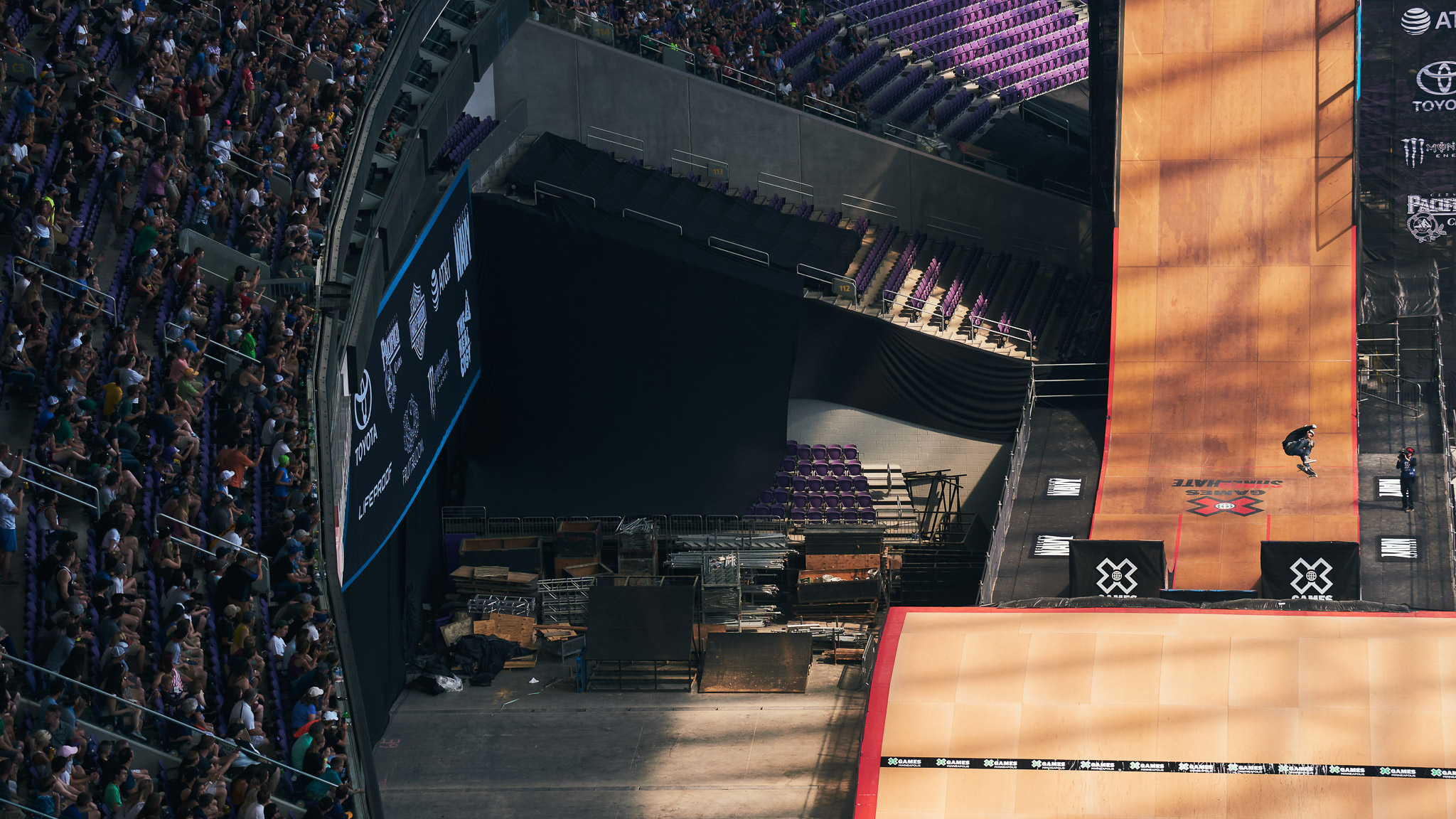 Fans packed the U.S. Bank Stadium on Saturday for a long, exciting day of X Games firsts -- including a first-ever Moto X double backflip quarterpipe transfer and the youngest-ever gold medalist being crowned -- and lasts. After 26 X Games appearances, Bob Burnquist, pictured here, who competed in the very first X Games in 1995 and hasn't missed a Summer X event since, announced during the Skateboard Big Air broadcast that he will be retiring from X Games competition.