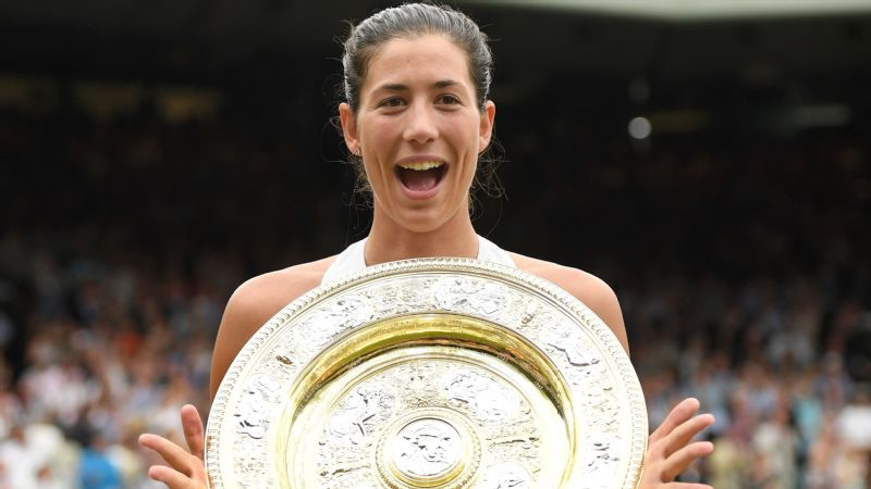 Trailing 4-5 in the first set, Garbine Muguruza fought off two set points as part of a nine-game run -- breaking Venus Williams' serve four times -- to capture her second Grand Slam title.