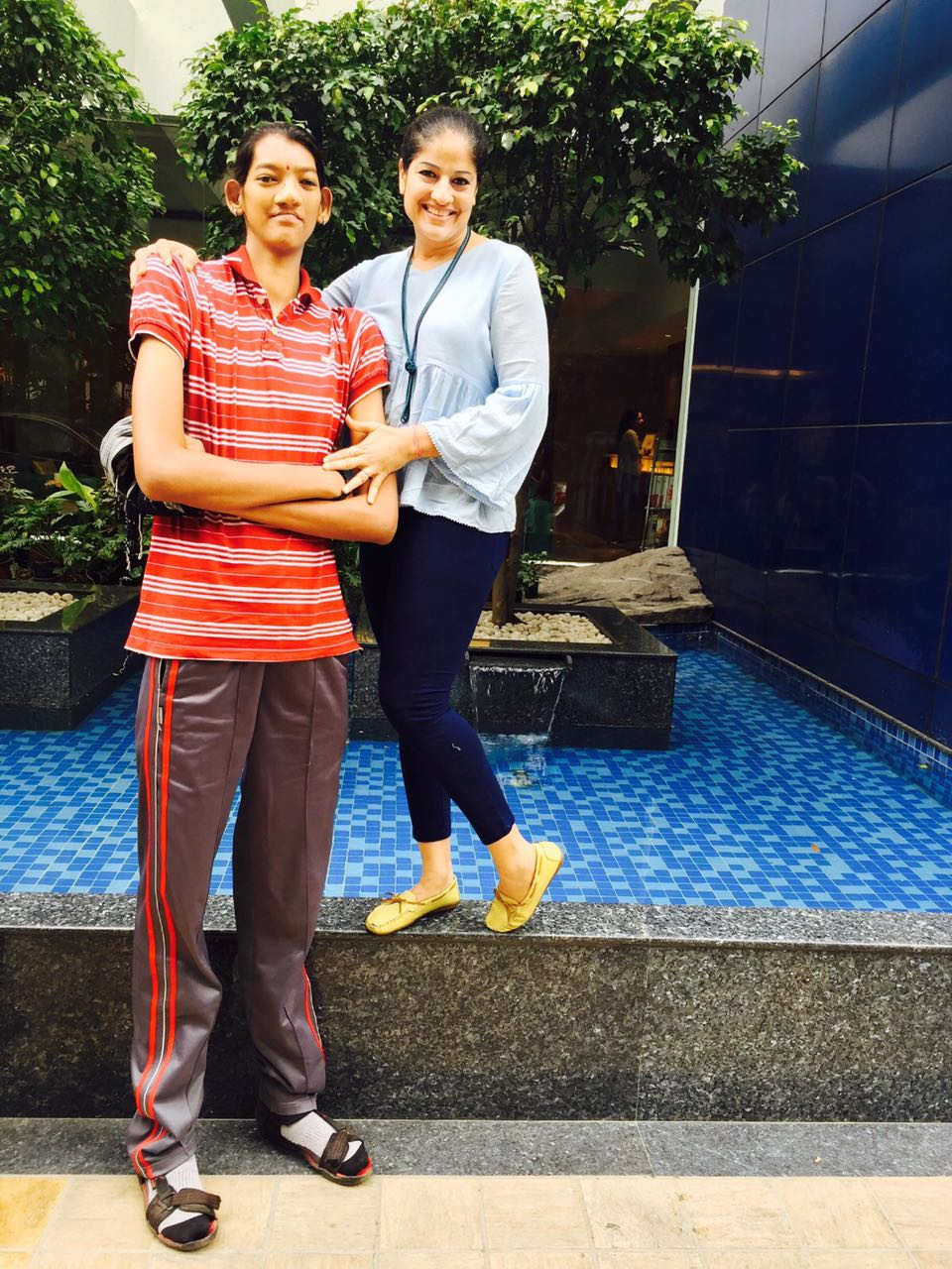 Poonam with India assistant coach Shiba Maggon.