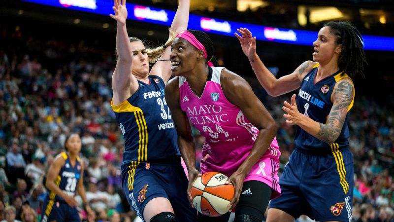 Minnesota's Sylvia Fowles netted 25 points en route to a record-setting 111-52 win over Indiana.