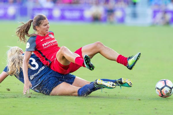 Saturday's championship was a battle, with Portland star Tobin Heath on the giving and receiving end of several hard tackles.