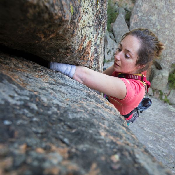 In October, Maureen Beck completed a 5.12a-grade climb called Days of Future Passed in Boulder Canyon, Colorado.