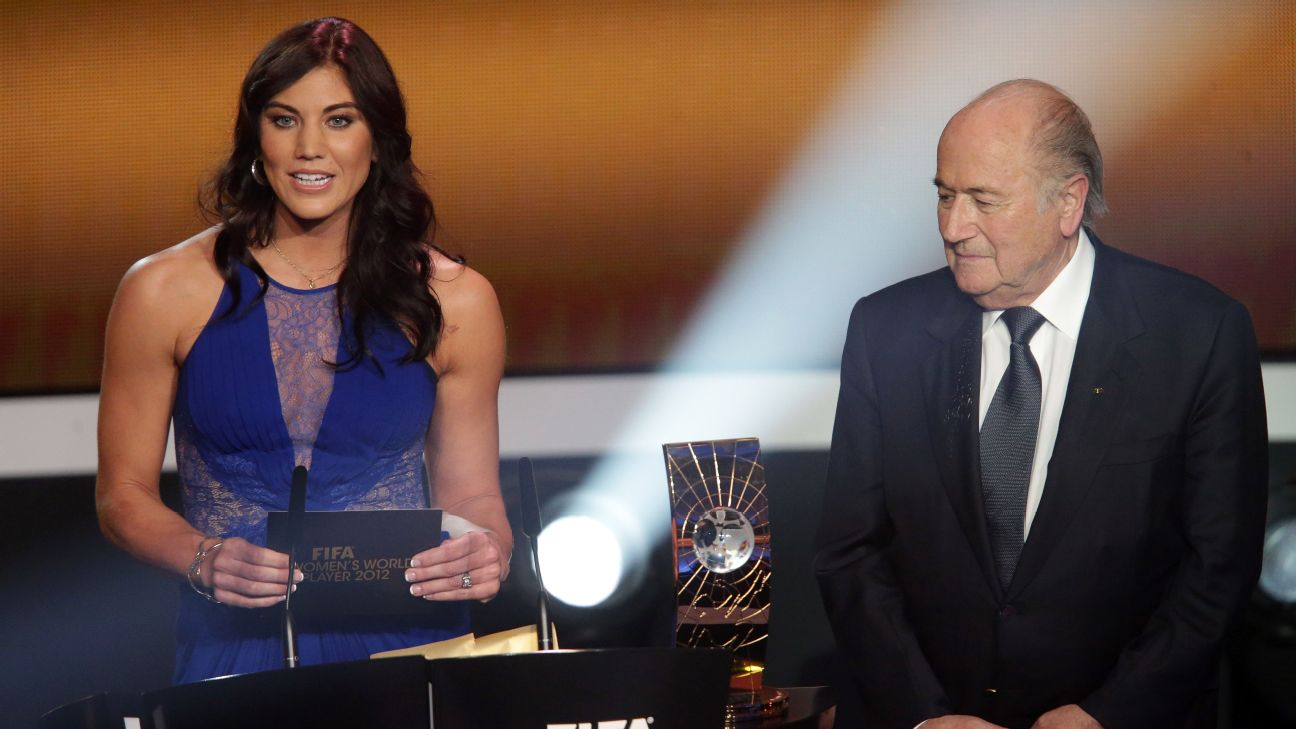 Sepp Blatter has denied groping Hope Solo at the Ballon d'Or award ceremony in 2013.