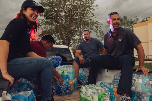 The Posadas delivered supplies throughout Puerto Rico.