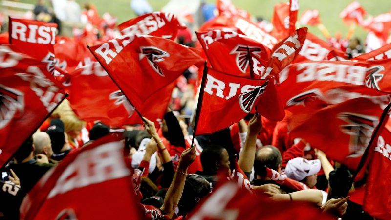 The Atlanta Falcons' Rise Up slogan is a symbol of the brotherhood that trickles through the entire franchise, writes Allison Glock.
