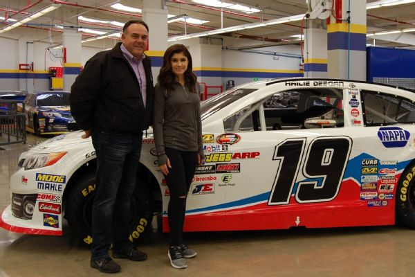 Bill McAnally and Hailie Deegan