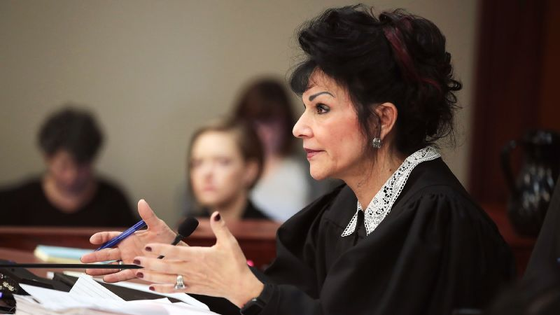 Judge Rosemarie Aquilina is presiding over the sentencing hearing of former USA Gymnastics team doctor Larry Nassar, who has pleaded guilty to 10 counts of first-degree criminal sexual conduct.