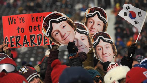 Red Gerard has a big family and a big built-in fan base whenever he takes to the mountain in competition.