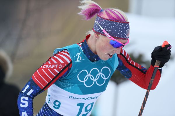 Kikkan Randall won the first Olympic gold in cross-country skiing for the U.S. with relay-team partner Jessie Diggins at Pyeongchang in February.