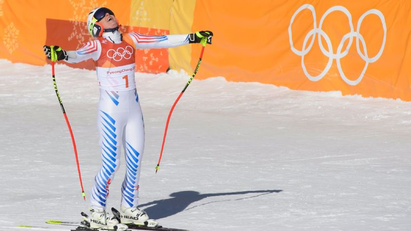 Lindsey Vonn was the first skier to go, and by the time she reached the bottom she knew she had made a costly mistake near the end of the course.