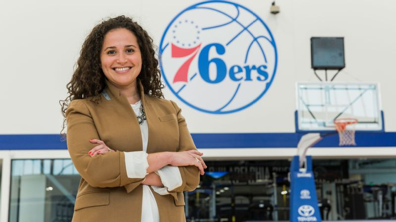 Eleven years after graduating from the University of Michigan, Katie O'Reilly finds herself working in her hometown of Philadelphia as the chief marketing officer of the 76ers.