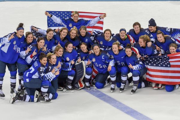 The U.S. women's hockey team won the Olympic gold medal in February.