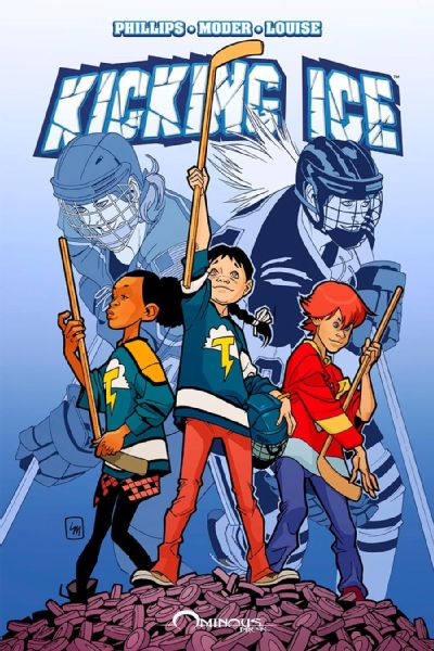 Kicking Ice is an upcoming graphic novel about two young girls on a co-ed hockey team, who try to overcome bullying and sexism to show they belong.