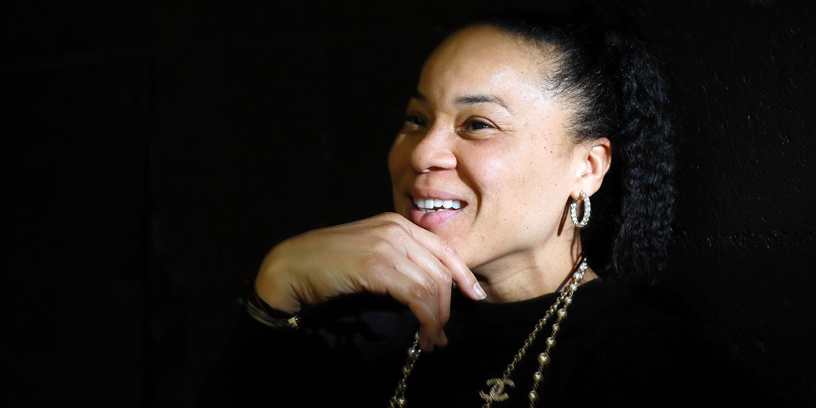 Columbia, SC- March 12, 2018: Coach Dawn Staley, of the South Carolina Gamecocks. Photographed at the Carolina Coliseum.
