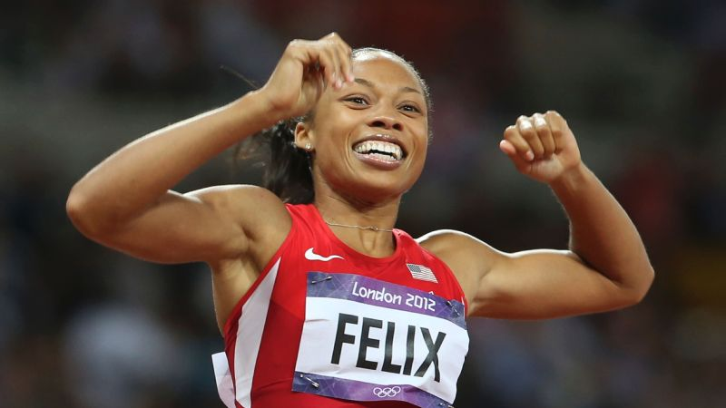 Allyson Felix won the 200-meter final at the London Olympics in 2012.