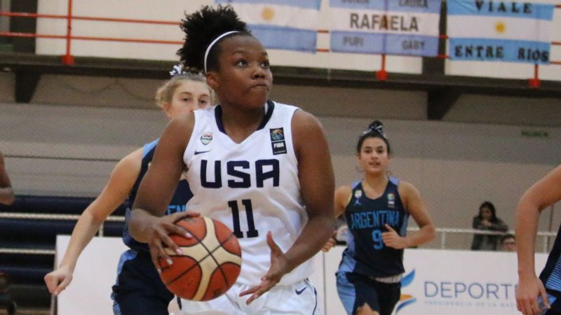 Baylor recruit Jordyn Oliver, who won a gold medal with USA Basketball last summer, continues to hone her game.