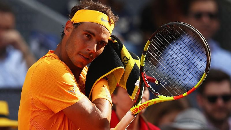 Rafael Nadal won 50 straight sets on clay before falling to Dominic Thiem last week in the Madrid Open quarterfinals.