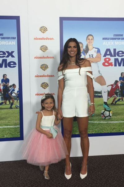 Alex Morgan and her niece at the Los Angeles premiere of the movie last month.