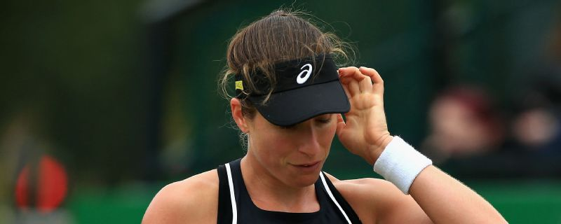 Johanna Konta lost out in the final of the Nottingham Open Sunday.