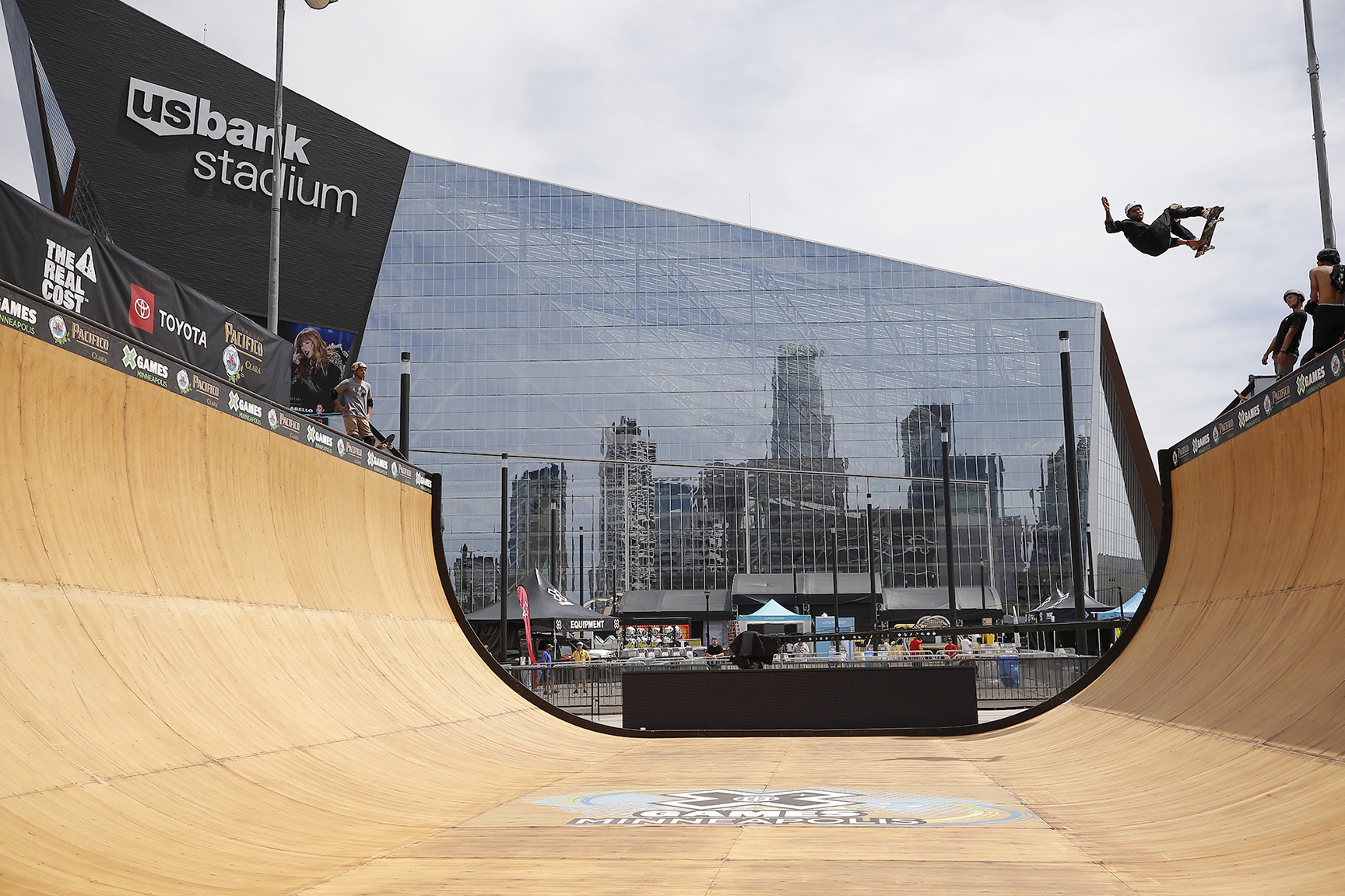 Located front and center of U.S. Bank Stadium is the Skateboard and BMX Vert ramp.