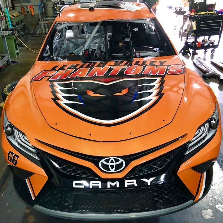 The Lehigh Valley Phantoms will be featured on the #66 Toyota at Pocono in July.