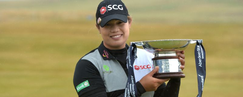 Ariya Jutanugarm took the Ladies Scottish Open at Gullane.