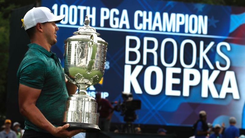 Brooks Koepka was walking out as PGA Champion. He wasn't letting anyone else, not even Tiger, do it.