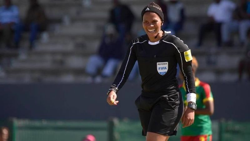Akhona Makalima is the first certified female soccer referee in South Africa, where she officiates for FIFA, the Premier Soccer League, the Sasol Women's League and the South African Football Association.