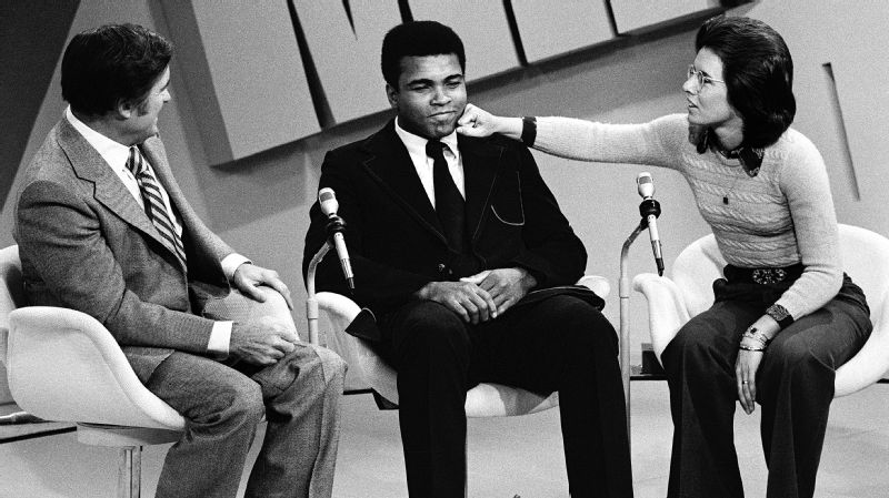 King co-hosted The Mike Douglas Show with guest Muhammad Ali in 1973.