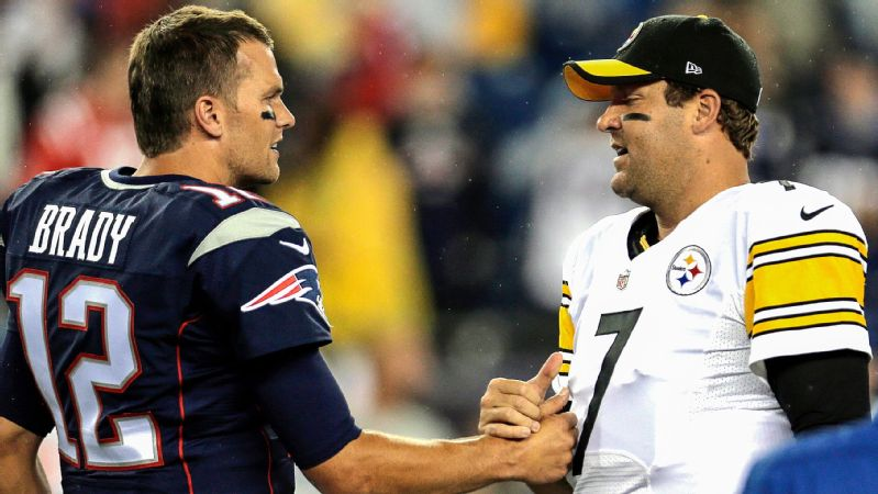 Tom Brady's eight wins against Ben Roethlisberger, including the playoffs, are tied for the third-most by one Super-Bowl winning quarterback against another.